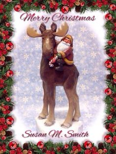 Original-hand-carved-carving-Santa-riding-moose-by-Susan-M-Smith