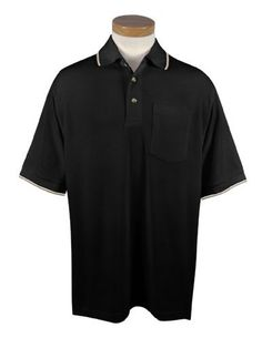 Tri-Mountain Mens 60/40 UltraCool mesh pocketed golf shirt. Tri-Mountain. $33.50. bottom hem with side vents and 2Ä extended tail.. developed to control and manage perspiration. Two-tone trim collar and cuffs. Three horn buttons and half-moon yoke back. Clean-finished placket. Mens 7.8 oz. 60% cotton/40% polyester golf shirt with pocket. Special mesh knit stimulates air circulation. Featuring the UltraCoolÉ system