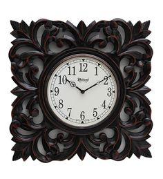 wood carving wall clock - Google'da Ara