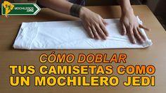 COMO DOBLAR CAMISETAS EN EL EQUIPAJE O MOCHILA / How to pack t-shirts