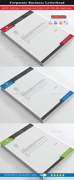 Letterhead design template psd vector eps ai illustrator ms word creative corporate real estate letterhead spiritdancerdesigns