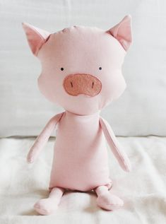 Pig Sewing Pattern Piglet Softie Plush Toy Cloth Doll von ElfPop
