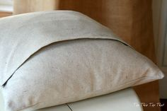 Envelope pillow covers from canvas dropcloth.