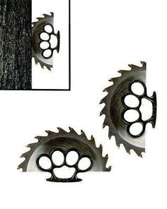 Brass Knuckles + Sawblades = Surving the zombie apocalypse Cool Knives, Knives And Swords, Zombie Apocalypse Weapons, Armas Ninja, Arte Robot, Homemade Weapons, Survival Weapons, Survival Knife, Brass Knuckles