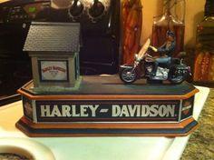 Harley Davidson Cast Iron Bank/ All Parts Work