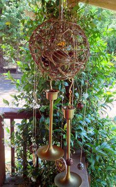 Spherical Vine Wind Chime / Suncatcher / Mobile by GrammiesDrawers, $48.00
