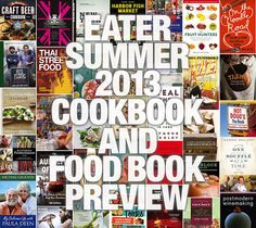 Eater's Summer 2013 Cookbook and Food Book Preview