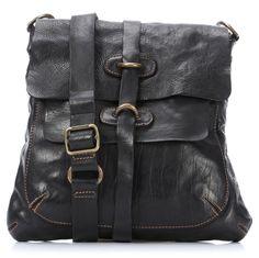Lavata Schultertasche Leder schwarz 28 cm