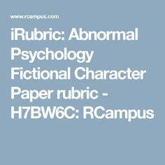 paper abnormal Abnormal psychology papers topics the abnormal psychology itself deals with abnormal behavior and other disorders and academic papers topics on psychology usually deal with them and their treatment for example.