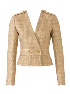 fresh details for boucle or tweed jacket Marine Look, Ethno Style, Mode Mantel, Cool Coats, Work Jackets, Jacket Pattern, Collar Pattern, Work Wardrobe, Womens Fashion For Work