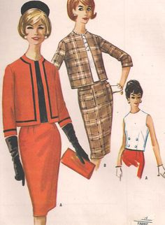 Vintage 1961 Misses Three Gore SKIRT and by PatternsOfYore on Etsy