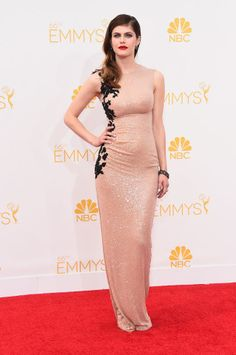 Emmy Awards 2014: Fashion—Live from the Red Carpet – Vogue - Alexandra Daddario in Reem Acra