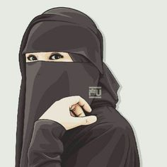 I love hijab . Anime Muslim, Muslim Hijab, Hijab Niqab, Mode Hijab, Muslim Girls, Muslim Women, Girl Cartoon, Cartoon Art, Best Facebook Profile Picture