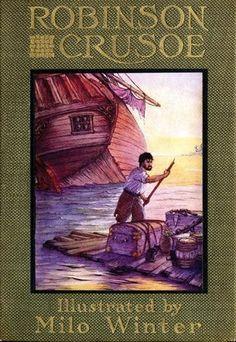 Robinson crusoe 28x42 giclee on canvas