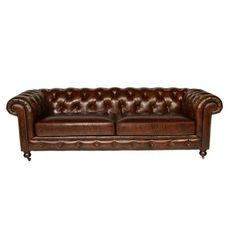 ABBYSON LIVING Vista Tufted Distressed Brown Italian Chesterfield Leather Sofa | Overstock.com Shopping - The Best Deals on Sofas & Loveseats