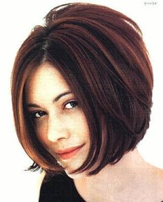 Short Stacked Bob. Wonder if this would work with thin hair and some gel or mousse to add body?