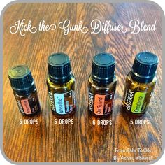 Kick the Gunk Diffuser Blend Follow me on Instagram: https://www.instagram.com/fromashstooilsbyashley/ Order your oils at: http://mydoterra.com/teamwhitesell