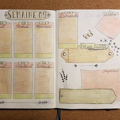 Bullet journal - weekly spread