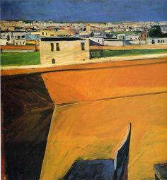 Richard Diebenkorn (American, 1922-1993) > Yellow Porch 1961 | oil on canvas