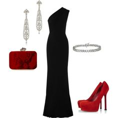 Love! The suede heels don't go with the elegance of the dress, but everything else is perfect!