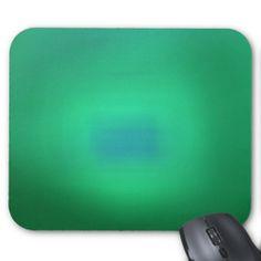 Green Abstract Art Design Blue Box In Center Mousepads