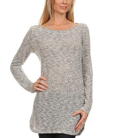 This Ivory & Gray Rounded-Hem Tunic is perfect! #zulilyfinds
