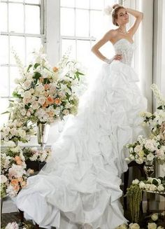 Pick-Up Bridal Gown with Illusion Bodice
