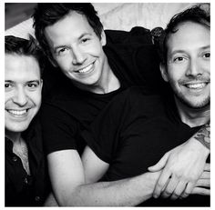 Pierre Bouvier (Simple Plan lead singer) with his brothers ...which board do i pin this on?!