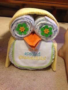 Baby Owl cake decoration for shower