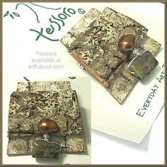 Tessoro Garnet Birch Bark Pin/Pendant available at Earthwood Galleries. www.earthwoodgallery.com