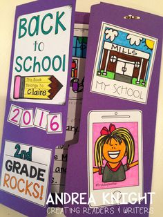 Back To School Lap Book: An Open-Ended Project by Andrea Knight First Day Of School Activities, 1st Day Of School, Beginning Of The School Year, I School, School Week, School Ideas, Education Quotes For Teachers, Elementary Education, School Grades