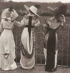 """There are only the pursued, the pursuing, the busy and the tired."" -F. Scott Fitzgerald (Royal Ascot, circa, 1910). #antique #photography #vintage #photograph #society  #blackandwhite #taste #class #style #wealth #chic #posh #fashion #dress #instastyle #instafashion #classic #distinguished #sophisticated #upperechelon #royalascot #socialite #heiress #quote #quotes #instaquote #victorian #edwardian"