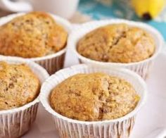 Joy Bauer Healthy Recipe From Joy Bauer's Food Cures Banana Almond Muffins Foods To Reduce Cholesterol, Healthy Cholesterol Levels, Cholesterol Diet, Joy Bauer Recipes, Almond Muffins, Snacks, Muffin Recipes, Healthy Recipes, Delicious Recipes
