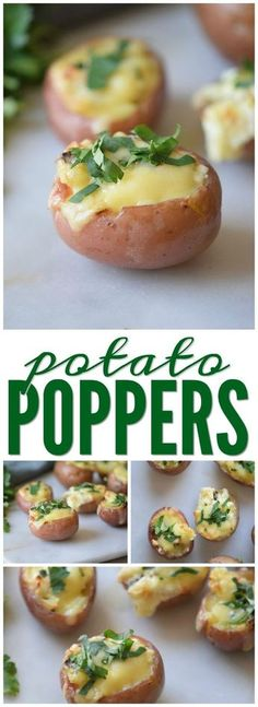 Potato Poppers Recipe! An easy Appetizer and Side Dish Recipe for any meal or party! So easy to make and so yummy!