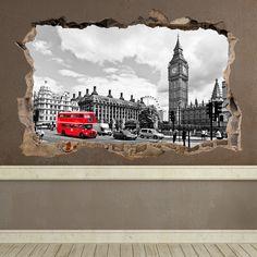 Agujero Big Ben en Londres - VINILOS DECORATIVOS London Calling - VINILOS DECORATIVOS #decoracion #teleadhesivo #londres