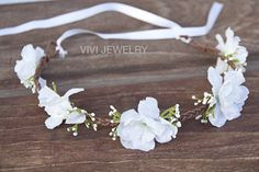 Haarband Hochzeit Vintage Blumenkranz Handmade DIY Taufe Oktoberfest Geburtstag Photoshooting