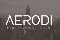 AERODI - Modern Sans Serif by Eldertype Studio on @creativemarket