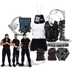 This will look good on a WWE diva if they were in The Shield Other Outfits, Cool Outfits, Wwe Outfits, Wwe Stuff, Halloween 2016, Wwe Divas, Roman Reigns, Teen Fashion, Jasmine