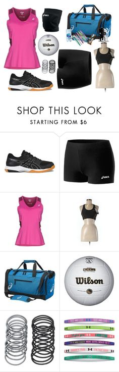 """Asics: volleyball practice"" by p-e-martin ❤ liked on Polyvore featuring Asics and Under Armour"