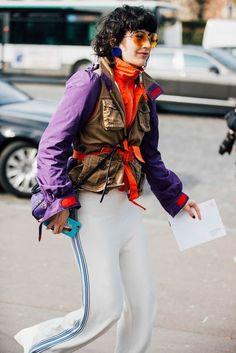 Purple and orange. Paris Fashion Week, FW 2017. British Vogue