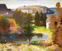 """Last Day,"" George Wesley Bellows, 1913, Oil on panel, 18 x 22"", Collection of Phoebe & Jack Lewis."