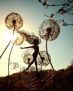 Fantasy Wire Sculptures by Robin Wight Robin Wight, Fantasy Wire, Wow Art, Fairy Art, Garden Art, Sculpture Art, Wire Sculptures, Amazing Art, Illustration