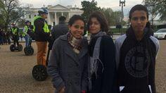 Tereza Rocha e três estudantes viajaram a Washington para audiência sobre repressão aos protestos contra fechamento de escolas em São Paulo.