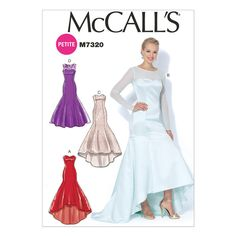 McCall's Sewing Pattern M7320 Misses'/Miss Petite Mermaid-Hem & High-Low Dresses - WeaverDee.com Sewing & Craft