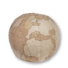 Globe pouf for travel themed nursery