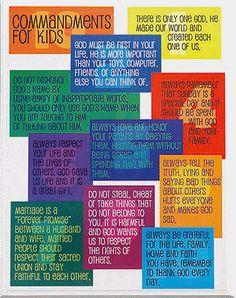 Ten Commandments for kids