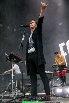 Mark Foster of Foster The People performs during Day 2 of Music. Mark Foster, The Fosters, Music Midtown, Ezra Koenig, Indie Pop Bands, Piedmont Park, Foster The People, Tame Impala, September 16