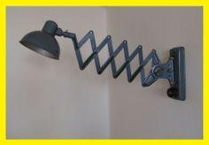 Vtg Industrial Machine Era Wall Scissor Metal Lamp Steam Punk Eames Age Bauhaus | eBay