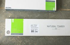 Natural Timber Ash porcelain tile from Lowes in a box of 8.
