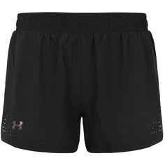 Under Armour Accelerate Split Shorts ($61) ❤ liked on Polyvore featuring activewear, activewear shorts, under armour and under armour sportswear